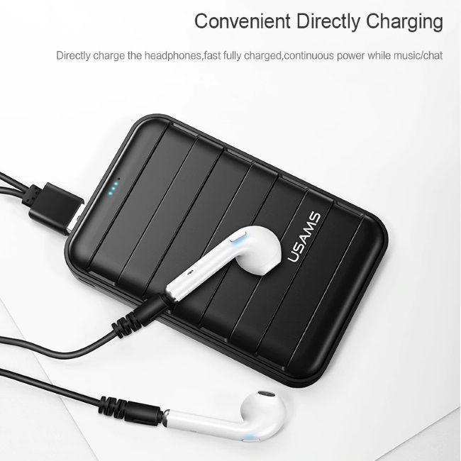 Usams LC Airpods Shape True Stereo Wireless Hi-Fi Headset White