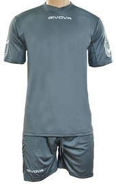 Givova Sports Wear Kit MC Grey XS