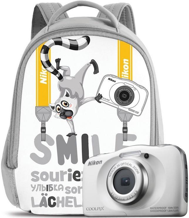 Nikon Coolpix W100 White + Backpack