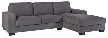 Stūra dīvāns Home4you Kendra, pelēka, labais, 268 x 165 x 84 cm