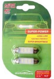 AutoDuals LED Canbus SV8.5 41mm Light Bulb White 2pcs