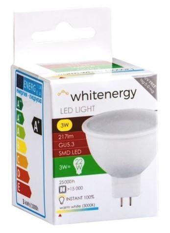 Whitenergy LED Bulb GU5.3 3W Milky