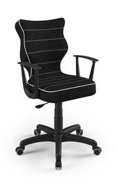 Vaikiška kėdė Entelo Norm Size 6 VS01, juoda, 425x400x1045 mm