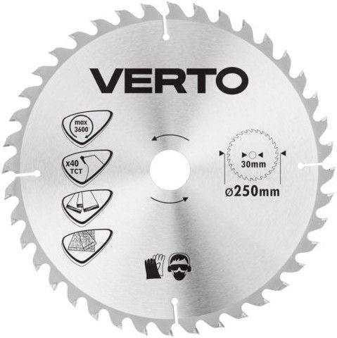 Verto Circular Saw Blade 250x30mm 40T
