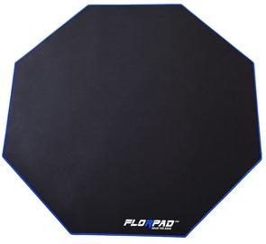 FlorPad Octagonal Floor Mat For Gamers Blue Line