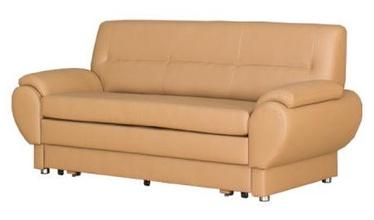 Bodzio Livonia Folding Sofa 3 Eco Leather Beige