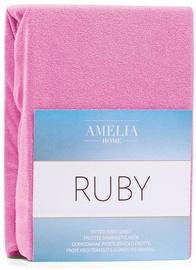 Простыня AmeliaHome Ruby, розовый, 240x200 см, на резинке