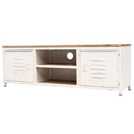 TV galds VLX 245457, brūna/balta, 1200 mm x 300 mm x 400 mm