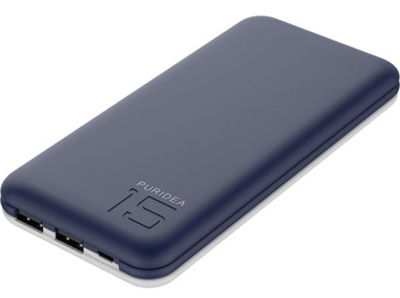 Зарядное устройство - аккумулятор Puridea S3, 15000 мАч, синий
