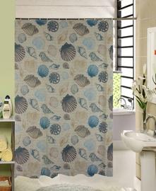 Vannas istabas aizkars Domoletti 171797H, zila/smilškrāsas, 1800 mm x 1800 mm