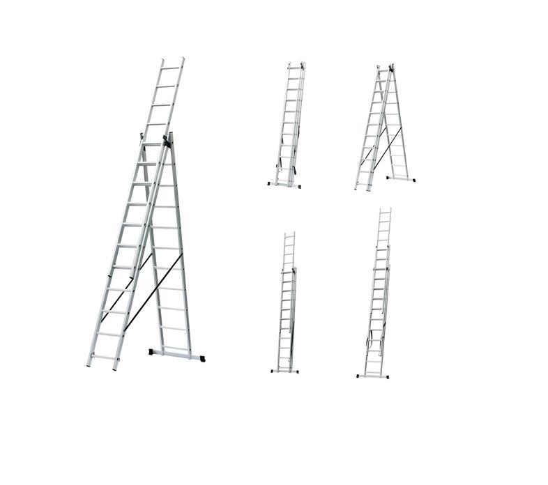 Universalios kopėčios Haushalt BL-E311, 3 x 11 pak