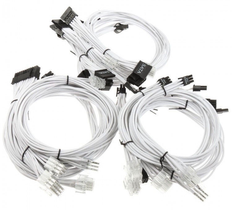 Super Flower Sleeve Cable Kit White
