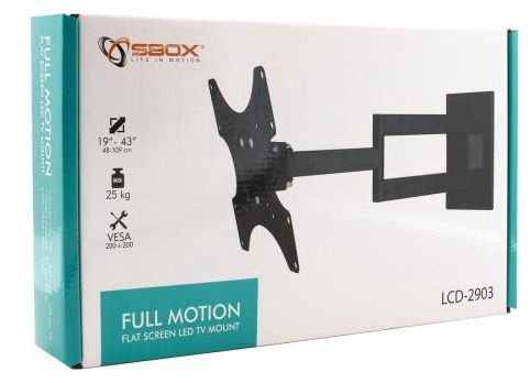 Sbox LCD Wall Stand With Double Hand 19-43''