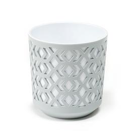 Lamela Aztek 2 Piece Flower Pot Ø25.5cm Grey/White