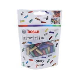 Klijų strypeliai Bosch Green Gluey glitter, įvairių spalvų, 70 vnt.