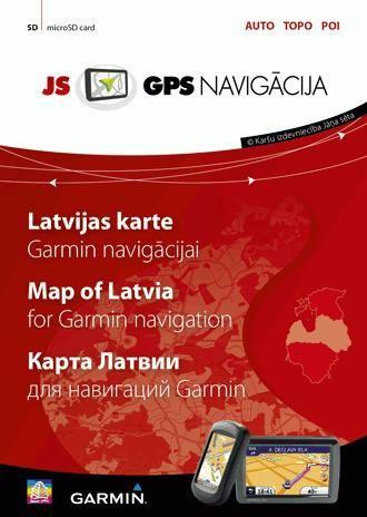 Jāņa Sēta Map of Latvia for Garmin navigation
