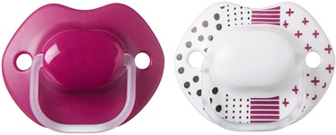 Tommee Tippee Urban Style Orthodontic Soothers 2pcs Pink White 6-18m