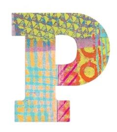 Djeco Peacock P Letter