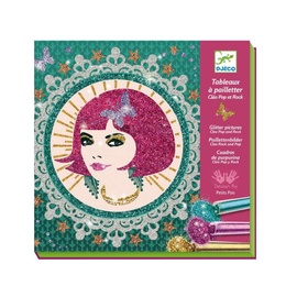 Djeco Glitter Boards Glitter Pictures Cleo Pop And Rock