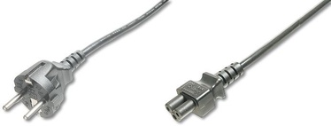 Assmann Cable Schuko/IEC C5 Black 0.75m