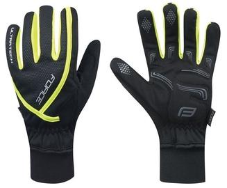 Перчатки Force Ultra Tech, черный/желтый, XXL