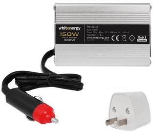 Whitenergy Power Inverter 24V DC To 230V AC USB 150W