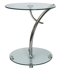 Kafijas galdiņš Signal Meble Muna Glass/Chrome, 500x500x550 mm