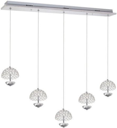 Milagro Venus Ceiling Lamp 5x5W LED Chrome