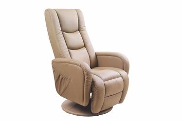 Fotelis Pulsar, su masažo ir šildymo funkcija, smėlio spalvos