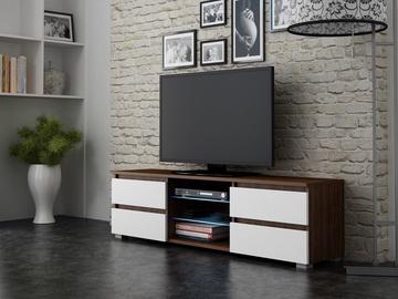 TV-laud Pro Meble Milano 150 Walnut/White, 1500x350x420 mm