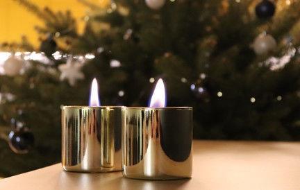 Tenderflame Lilly Table Burner Set 8cm Gold
