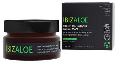 Veido kremas Ibizaloe Man Aloe Vera Facial Moisturizing Cream, 100 ml