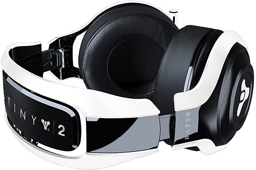 Žaidimų ausinės Razer ManO'War Tournament Destiny 2 Edition Black/White
