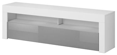 TV galds Vivaldi Meble Mex, balta/pelēka, 1600x350x500 mm