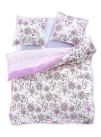 Gultas veļas komplekts DecoKing Diamond, balta/rozā, 200x200/80x80 cm