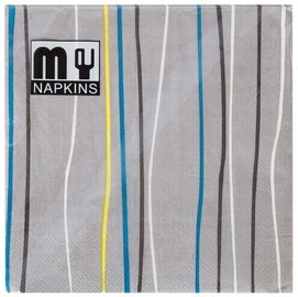 Home4you Napkins 33x33cm My Mix 20pcs Stripe