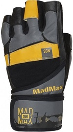 Mad Max Signature Gloves Grey Black Yellow L