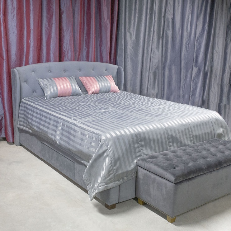 Home4you Grey & Rose Bedspread 240x240cm Gray