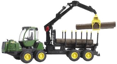 Bruder John Deere 1210E Forwarder With 4 Trunks & Grab 02133