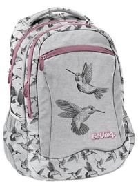 Рюкзак Paso BeUniq Kolibri w/ Pencil Case & Shoe Bag Grey