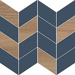 Cersanit Love You Mosaic Tiles 29x29cm Navy Half Satin