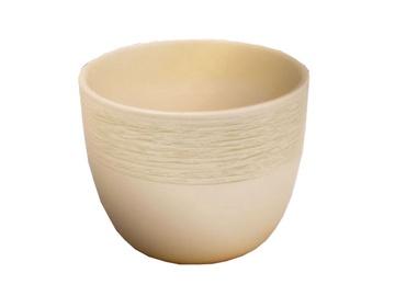 SN Ceramic Flower Pot Pleciony Jednolity Ø16cm Beige
