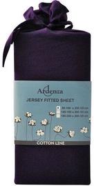 Простыня Ardenza Jersey Violet, 140x200 см, на резинке