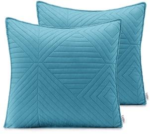 AmeliaHome Softa Pillowcase Azure Blue/Pearl Silver 45x45 2pcs