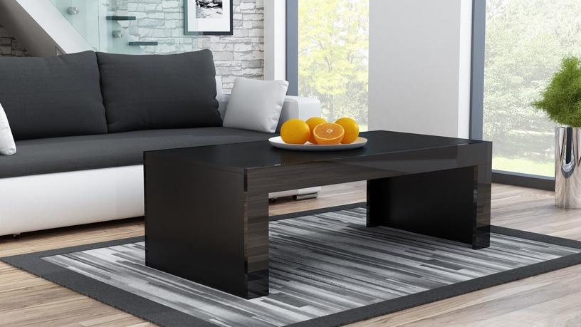 Kafijas galdiņš Pro Meble Milano Black, 1200x600x500 mm