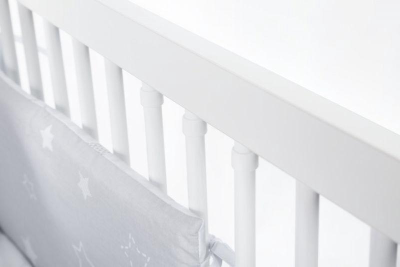 Vaikiška lova Klups Nel Heart White/Grey, 125x66 cm