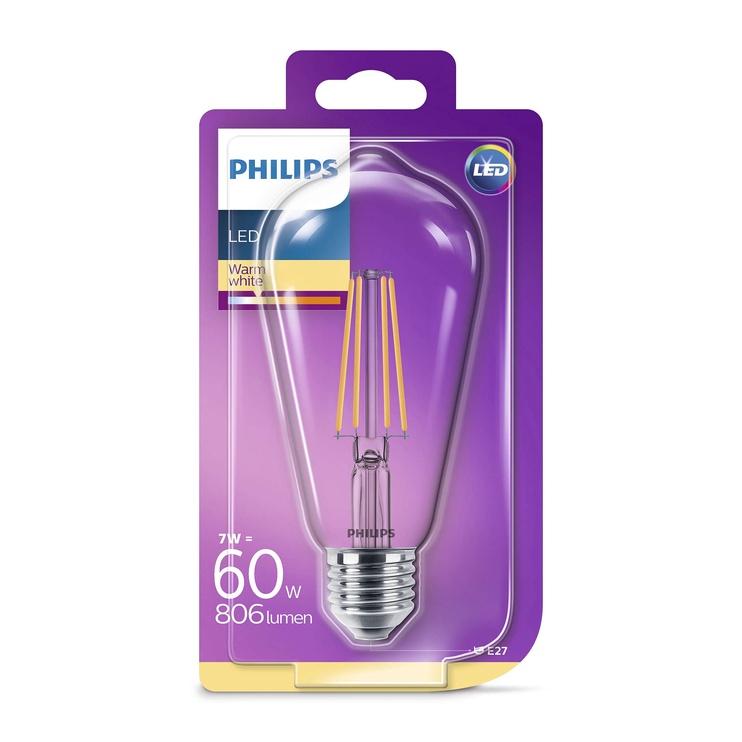 Lamp Philips LED ST64 7W E27