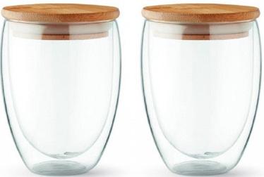 Topeltseintega klaaside komplekt, kaantega (2 tk) 350ml.