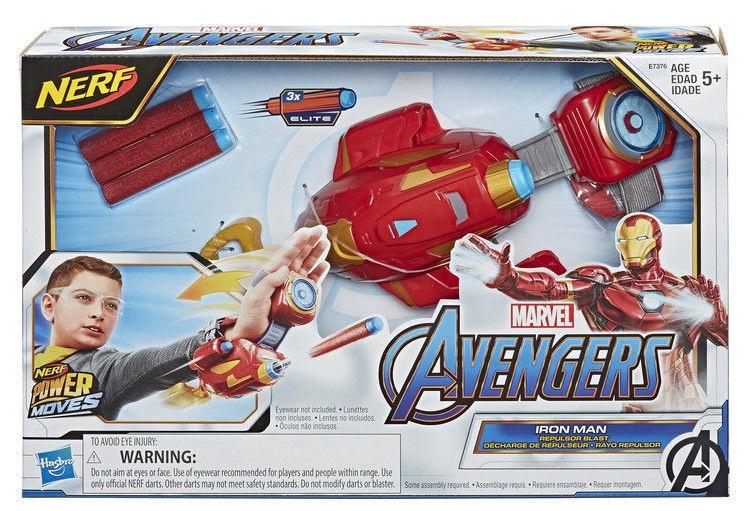 Rotaļlietu ierocis Hasbro Marvel Avengers Nerf Power Moves Iron Man Blaster E7376