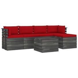 Комплект уличной мебели VLX Piece Garden Pallet 3061869, красный, 1-4 места